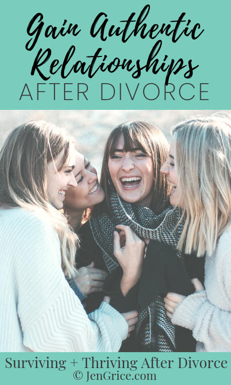 Authentic relationships support each other through mutual respect, allowing for boundaries. You can have healthy, authentic relationships after divorce! via @msjengrice