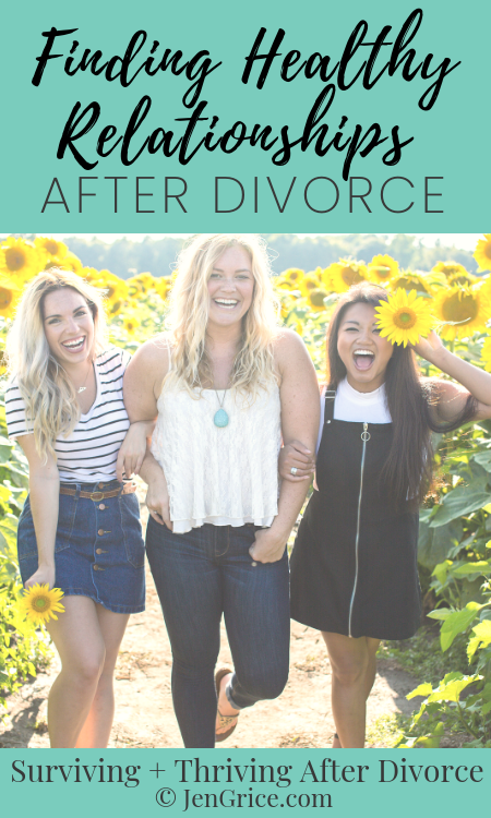 Friendships after divorce are hard. Not all of your friends want to stay friends. And the ones who do might be toxic or dysfunctional. Here are my tips for finding healthy relationships after divorce. via @msjengrice