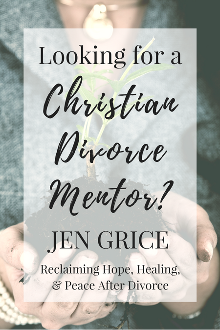 Christian Divorce Mentoring with Jen Grice. Are you ready to be encouraged and empowered to survive your divorce and thrive after? Schedule your first consult today! via @msjengrice