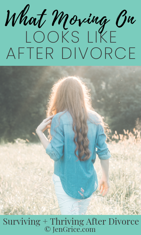 """People have said to me """"Just move on with your life!"""" But what does that phrase really mean? Let me explain what moving on really looks like after divorce. via @msjengrice"""