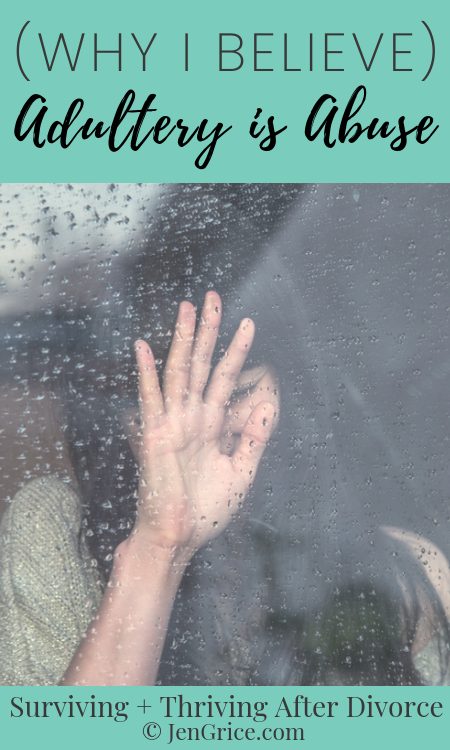 I believe the dysfunctional, destructive, and self-centered act of adultery is abuse. It hurts the victims - the faithful spouse - and destroys marriages! via @msjengrice