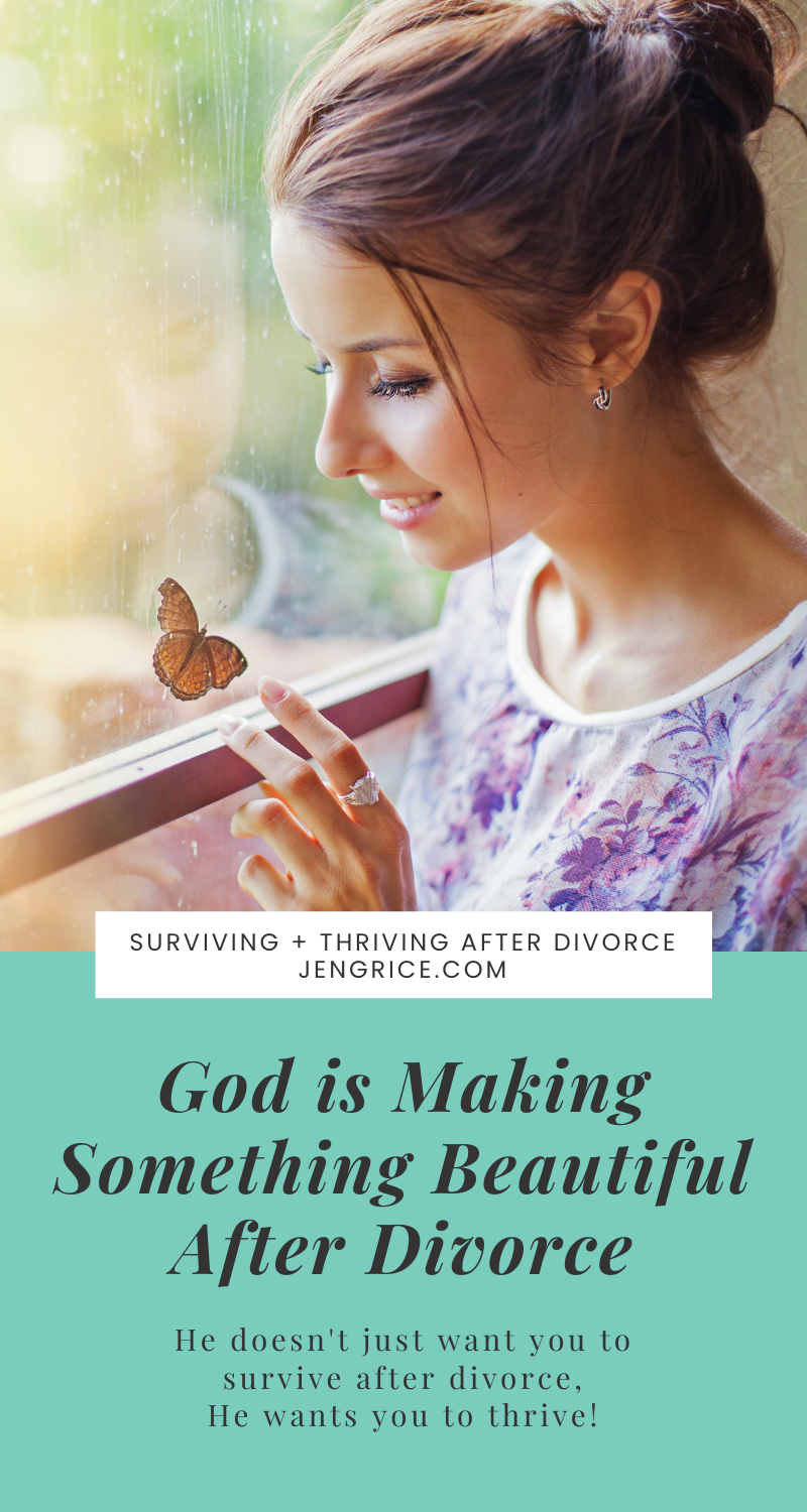 God is making something beautiful out of your divorce. If God has gutted your house, there is hope. He wants to make your house solid and more beautiful than before. Then He wants to come and live there! God is remodeling your life after divorce. via @msjengrice