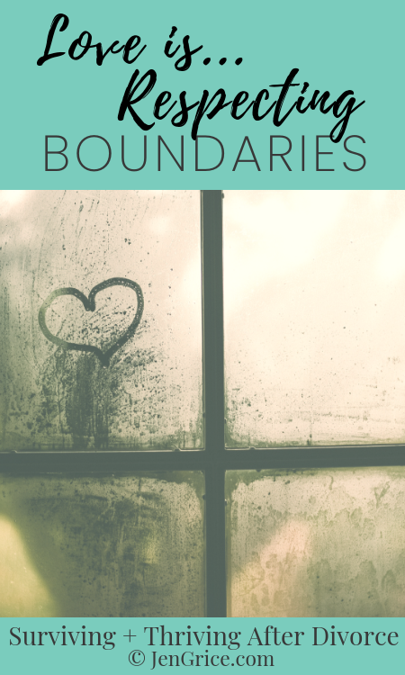 """Loving and respecting another person means not crossing boundaries. Yet a lot of people use """"love"""" as their excuse to do so anyway. Learn boundaries to show you love others. via @msjengrice"""
