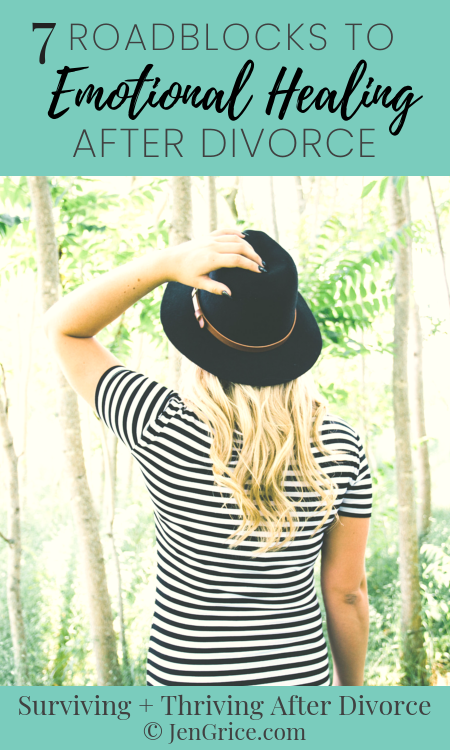 Divorce offers many healing roadblocks. But if we learn to see them ahead of time we can work around them, heading to the road that leads to a healthy, thriving life. via @msjengrice