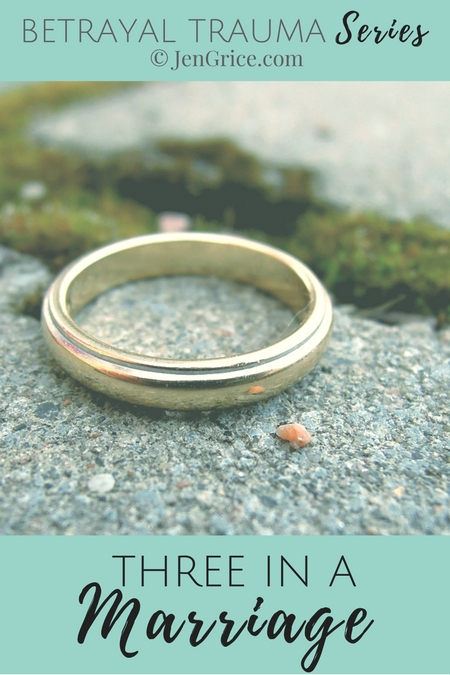 Part one of three betrayal trauma posts. Finding out that another person has been invited into your marriage is a sin, abuse, and adultery. Then dealing with the feelings and moving past it... via @msjengrice