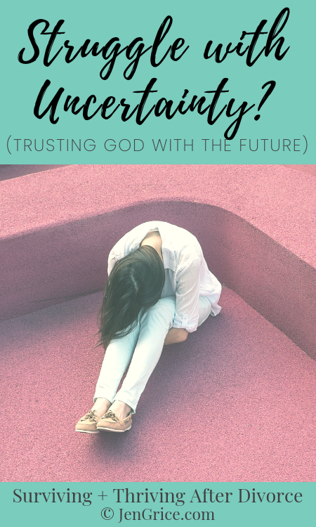 In these shaky times, of divorce and loss, and so much uncertainty, how do we trust our future to God? What do we do with this discomfort that we feel? via @msjengrice