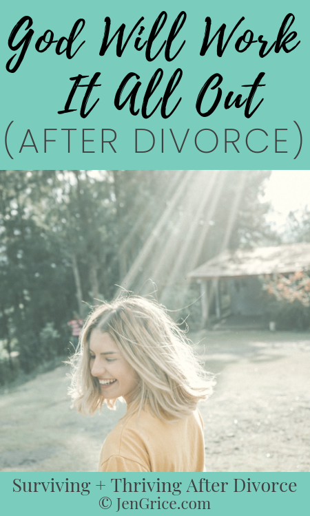 We don't always understand the purpose of divorce, but we can have faith knowing God will work it all out (after divorce) for our good. Because He will! His promises are true. We just need to have faith. via @msjengrice