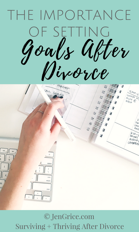 It's important to set goals after divorce. Standing still is not an option. We must remain focused on hope, set small attainable goals, and keep moving towards personal growth in order to heal and have a better life. via @msjengrice