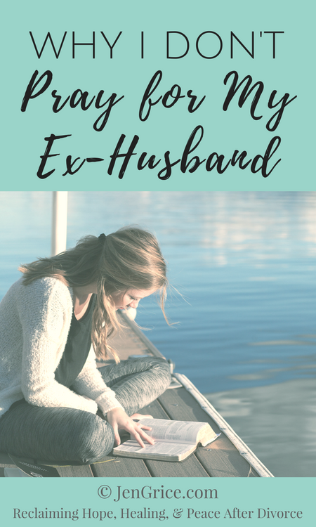 When I prayed for my husband, it consumed me. But when I stopped praying for my ex-husband, I was able to focus on myself and my own healing. I was better able to help my children heal as well when I take my hands off that situation and focus on healing. via @msjengrice