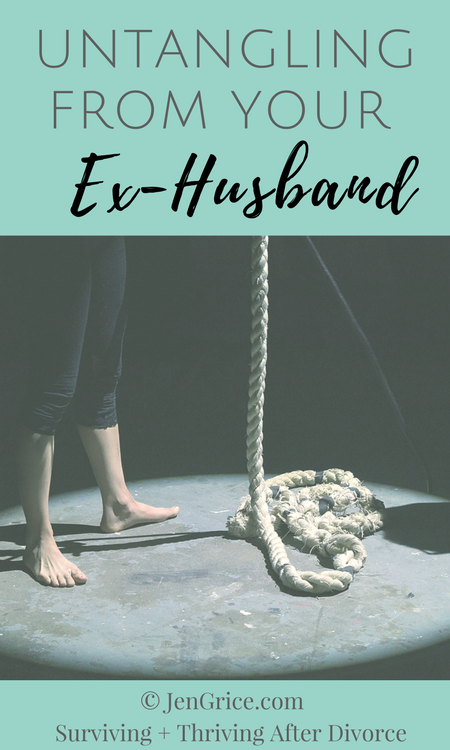 Marriage connects two people and they become one. Divorce is the separation of those lives, those hearts, and the family unit. In order to heal, we must untangle from our ex-husband, renew our bond with God, and learn to complete in Him. via @msjengrice