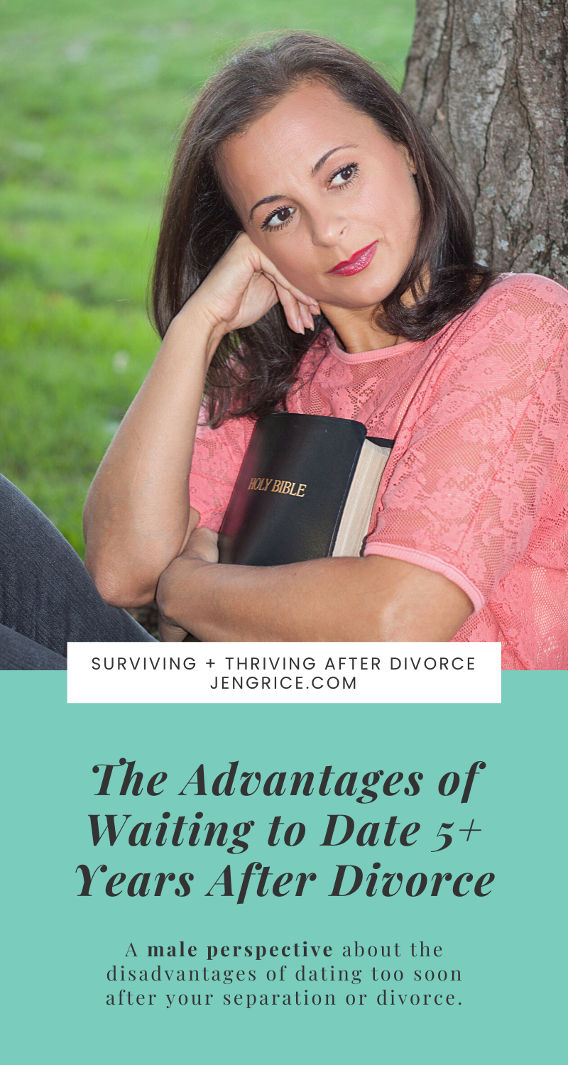 Pastor Curtis shares his perspective on healing before dating again after divorce. What are the advantages to waiting to date 5+ years after divorce? Love this wisdom! via @msjengrice