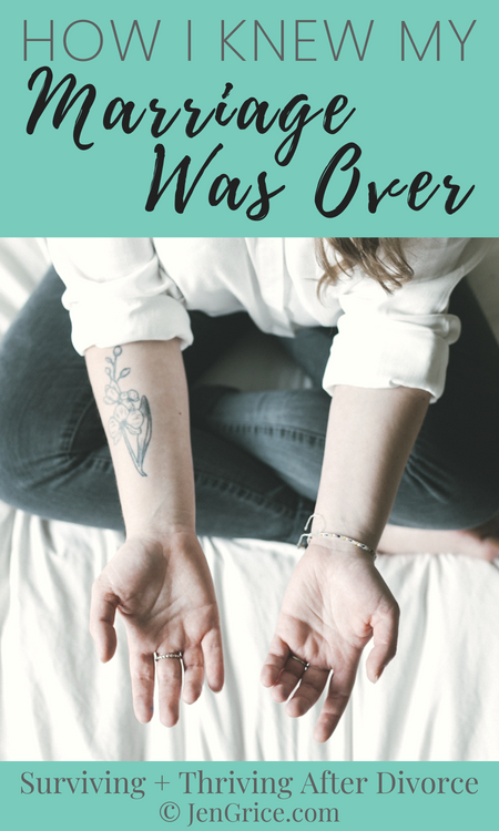 I wasn't able to heal from the past adulteries, he didn't respect boundaries, and he was unrepentant. This is how I knew my marriage was over and couldn't be saved. via @msjengrice