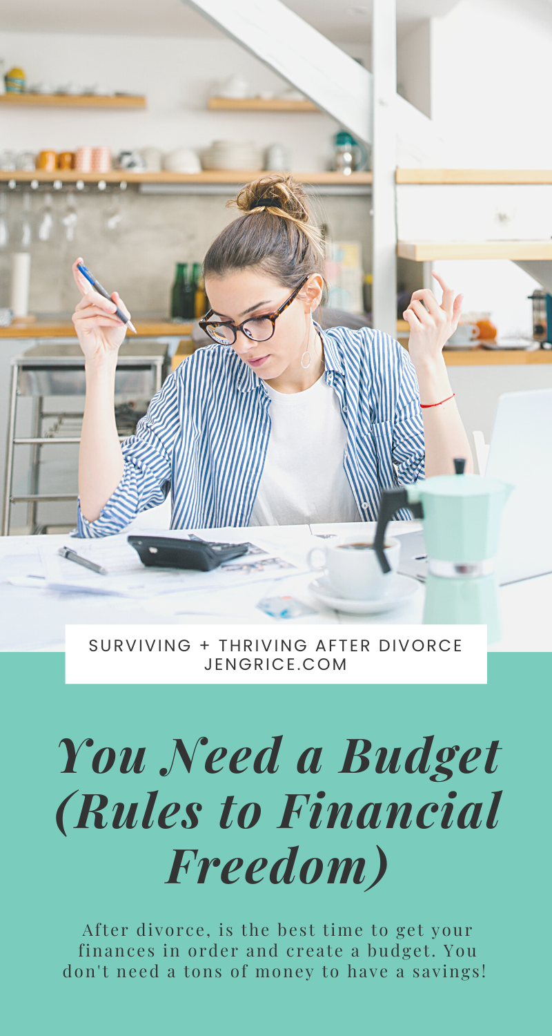 Are you ready to be on the road to financial freedom? After divorce, I followed these 4 rules and have worked my way down the debt-free path with You Need a Budget (YNAB)! Because of this, I was able to put a large amount of cash down on a newer vehicle, make extra payments, and keep my $1000 emergency fund. via @msjengrice