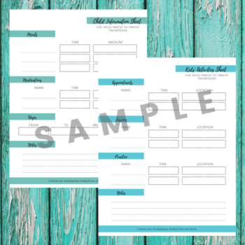 Parent Transitions Sheets