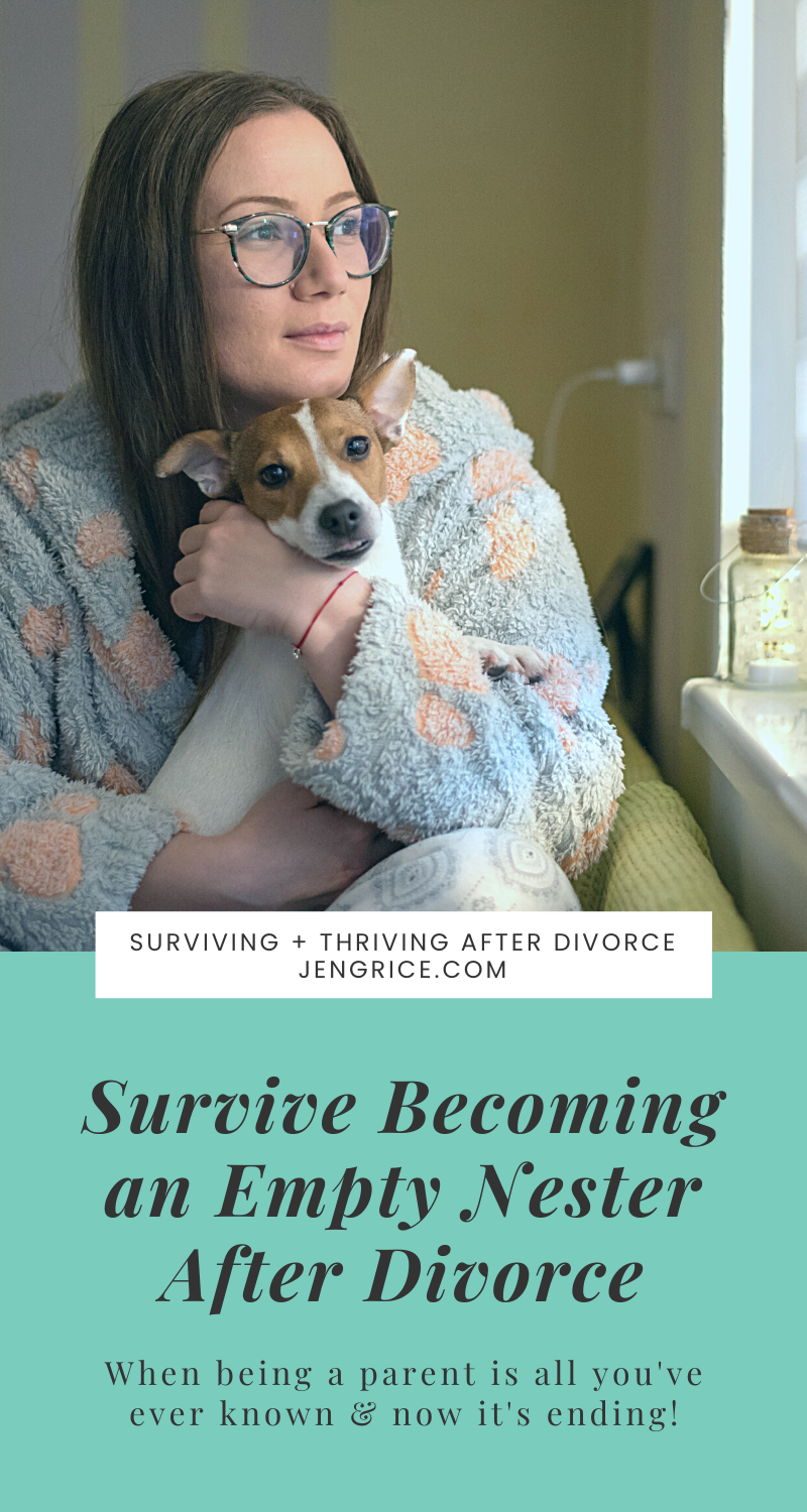 You survived divorce now you have to survive becoming an empty nester after divorce. Work through the feelings and learn how to cope. There are positives after divorce, let's find them together! #emptynest #emptynester #aloneafterdivorce #feelinglonely #divorcesupport #divorcecommunity #divorceexpert #divorcecoach #divorcementor #lifeafterdivorce #thriveafterdivorce via @msjengrice