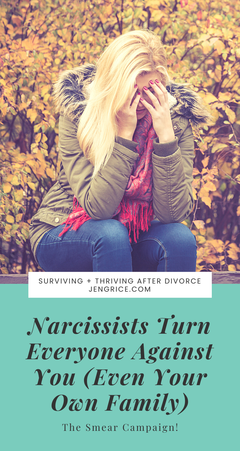 The narcissist uses the same techniques he used to bait you and isolate you from your friends to then turn everyone against you after you no longer go along with his narrative. You're the enemy and you must be punished! via @msjengrice