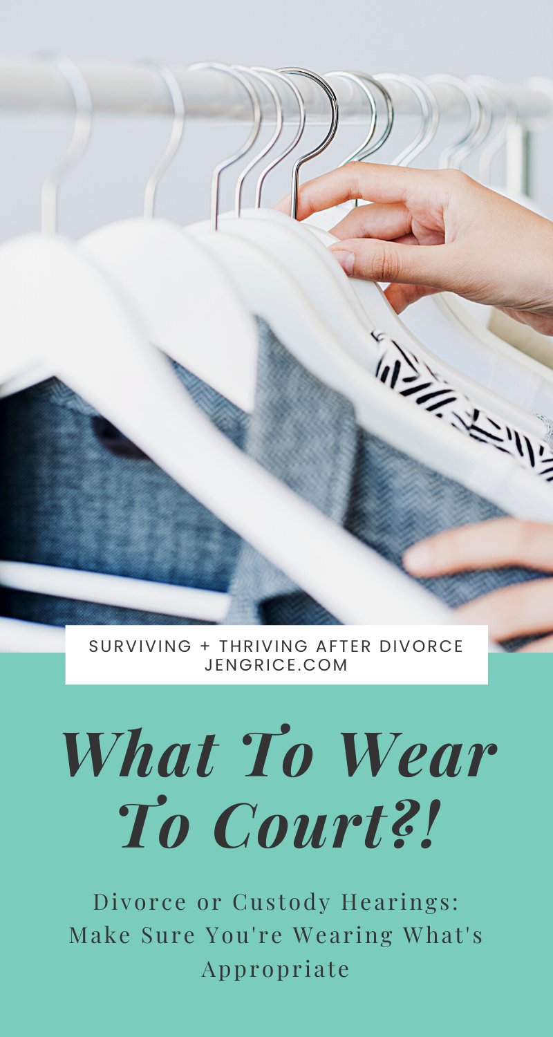 Women often ask what they should wear to their divorce or custody hearings. Are jeans, shorts, or tank tops allowed? This blog explains it all! And gives examples of what to wear and what not to wear to court... with links for what to buy on Amazon. via @msjengrice