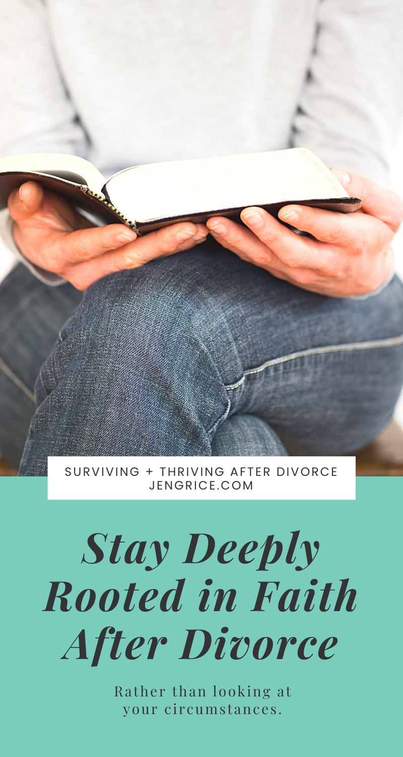 Your restoration journey after divorce involves walking with God and allowing Him to teach you how to become so deeply rooted in faith that any of life's storms no longer causes panic or knocks you down. via @msjengrice