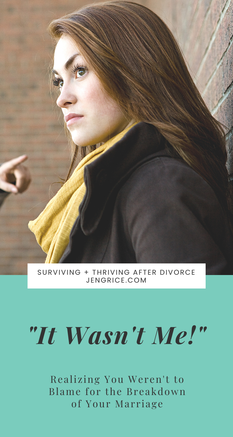 When history repeated itself after divorce, and I was no longer in the picture, that's when I knew, I wasn't to blame for the breakdown of my marriage. His serial adultery was! I could stop taking the blame and start taking the responsibility for my part... and then work on my healing. via @msjengrice