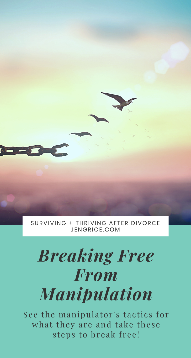 Breaking free from a manipulator takes hard work and practice, but it can be done. I am here to help you and share my wisdom of how I stopped people-pleasing and started thinking about myself. This is not selfish, this is self-love. And now I'm free from resentment in my heart as well. via @msjengrice